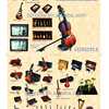 Miniature Musical Instruments Dollshouse Miniatures Ornaments