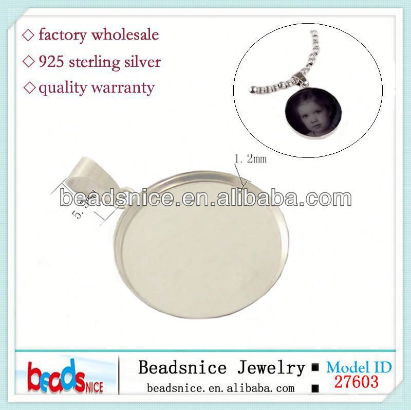Beadsnice ID30666 925 silver diy jewelry adjustable US size 7 to 9 fit 8mm round sold by PC wholesale ring base