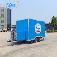 WeBetter square small food cart mobile for burger
