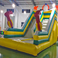 big water slide inflatable, nice inflatable water slide with pool