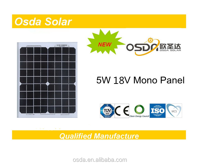 Photovoltaic 5W Mono Osda Solar Panel price per watt solar panels