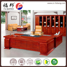 customize oem MDF partition wood modern furniture luxury Executive ceo manager office table desk design with side cabinet