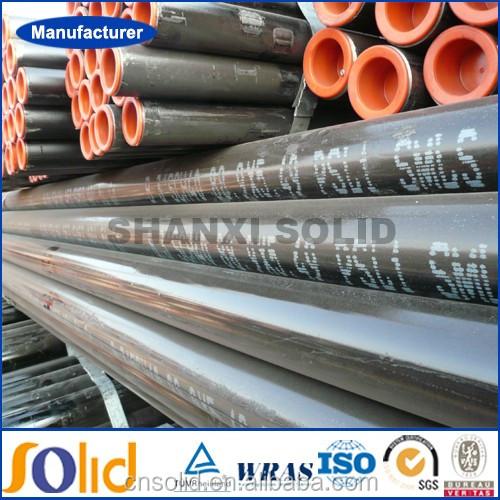 Large diameter rigid galvanized seamless steel pipe