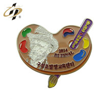 Wholesale bulk cheap custom made palette art exhibition show metal badges