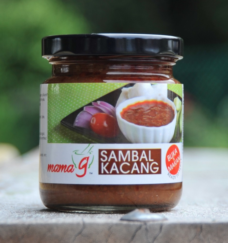 Sambal Kacang in Glass Bottle, Ready-to-eat Peanut Satay Sauce
