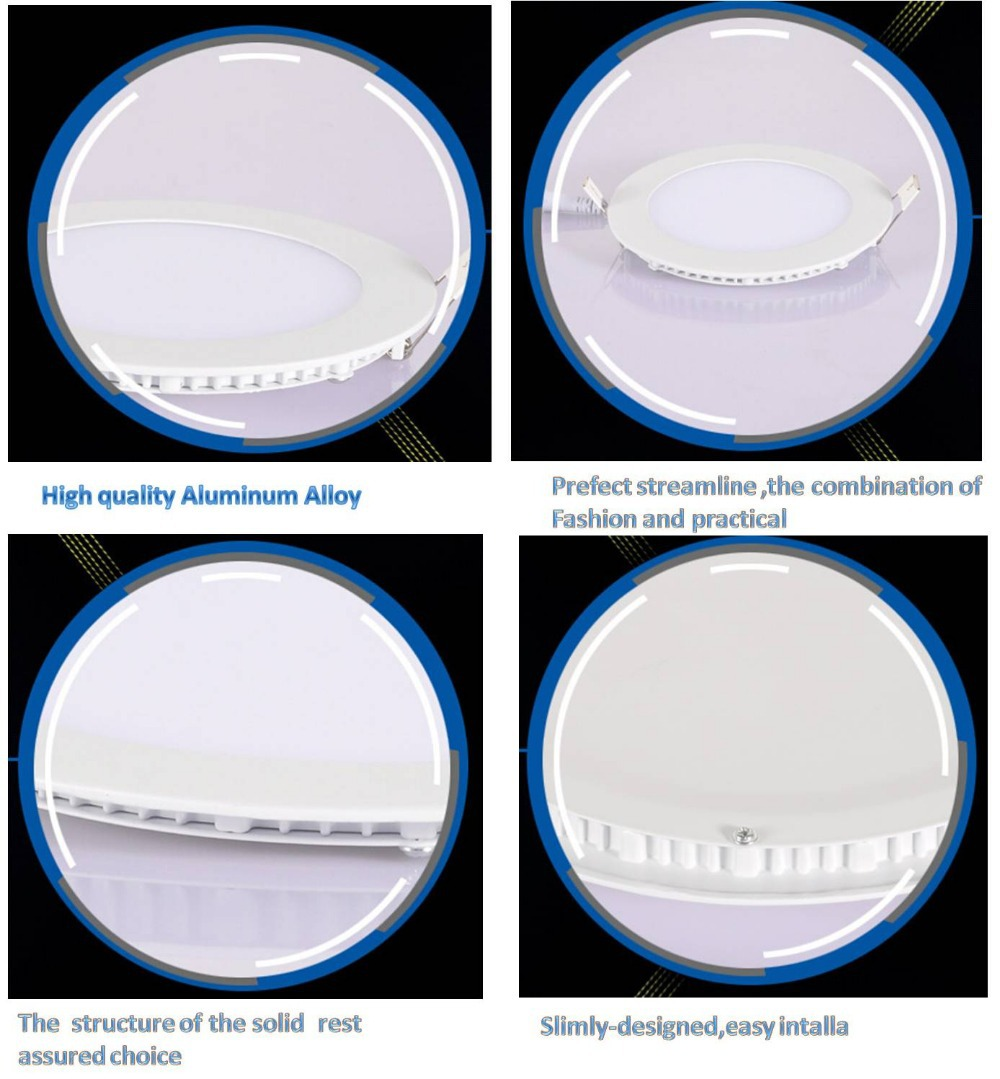 2017 hot sell cheap Ce,ROHS SMD2835 8 inch ultra slim 18w round led panel light