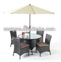 2017 Trade Assurance SIGMA Luxury Living SGM-00096 cheap dining table set with sun umbrella