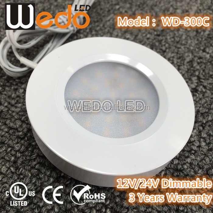 Dimmable 3W sensor led remote control led puck light with sensor PIR or motion sensor