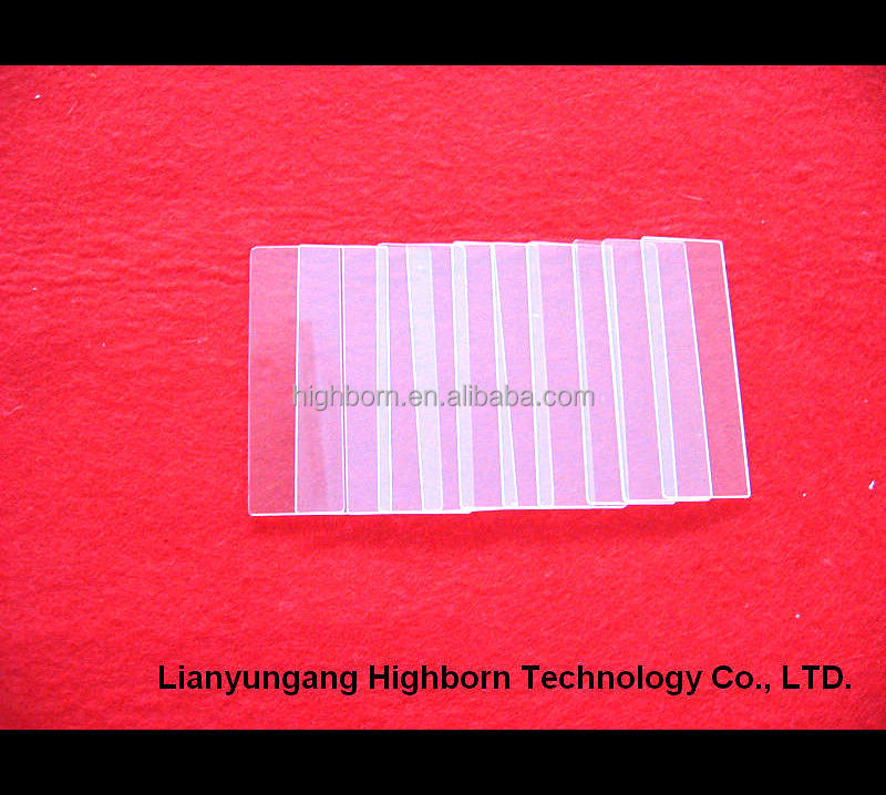 high pressure clear sight glass microscope slide