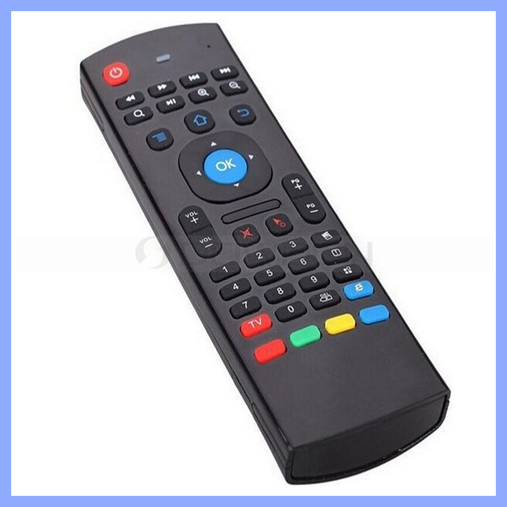 IR Learning 2.4ghz QWERTY keyboard air mouse remote with voice micphone and G-sensor for smart TVs