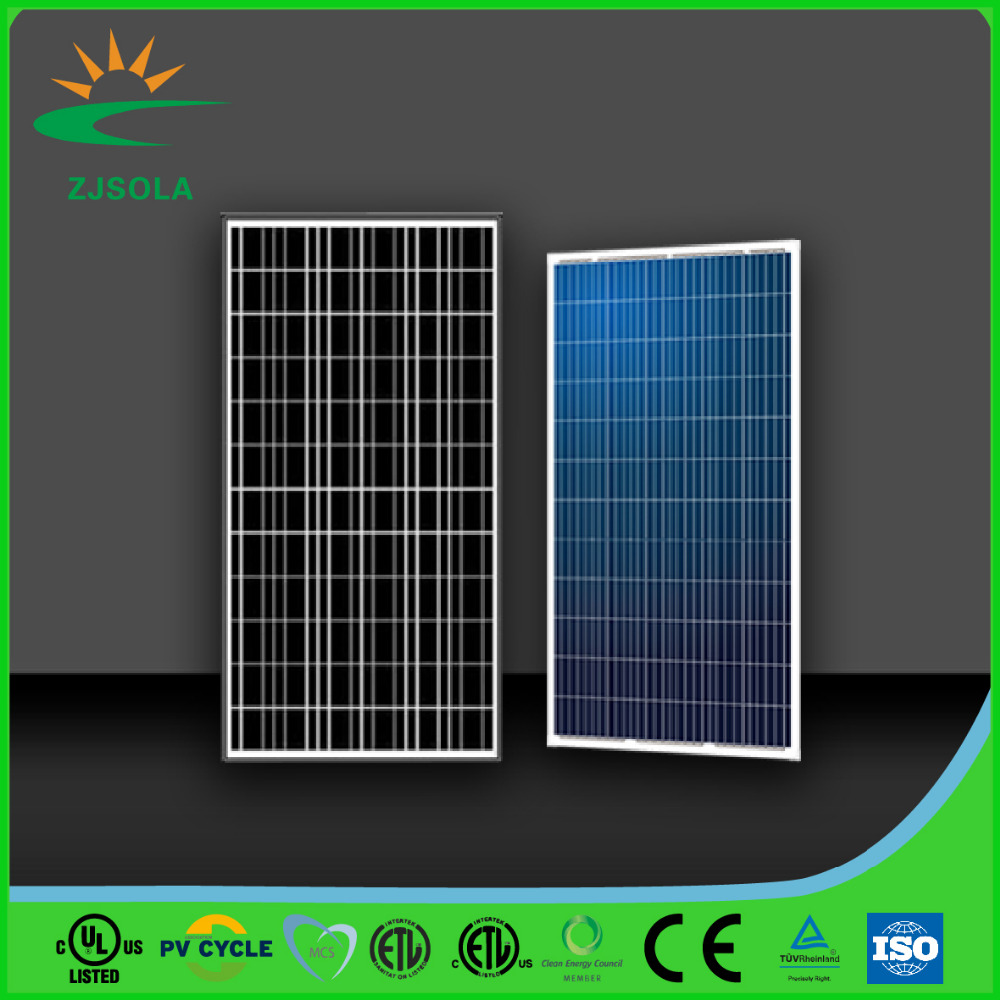 ZJSOLA 200W poly solar panel factory low price TUV ISO CE cert