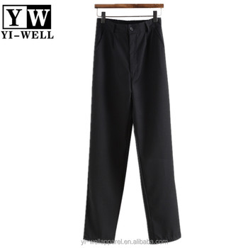 Middle school plain trousers school uniform teen boys trousers