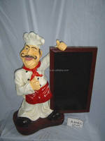 home decoration items,Factory directly polyresin chef figurine for home decoration,home decoration accessories