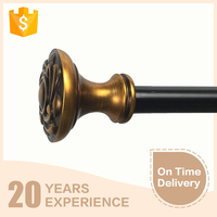 New design High quality cheap window curtain rod comptitive price ,sliding window ,curtain rods finial