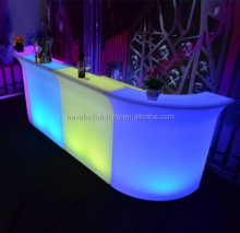 Portable illuminated bar counter restaurant bar counter furniture led bar counter
