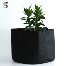 25 Gallon Top Quality Durable Jute Black Poly Grow Bags