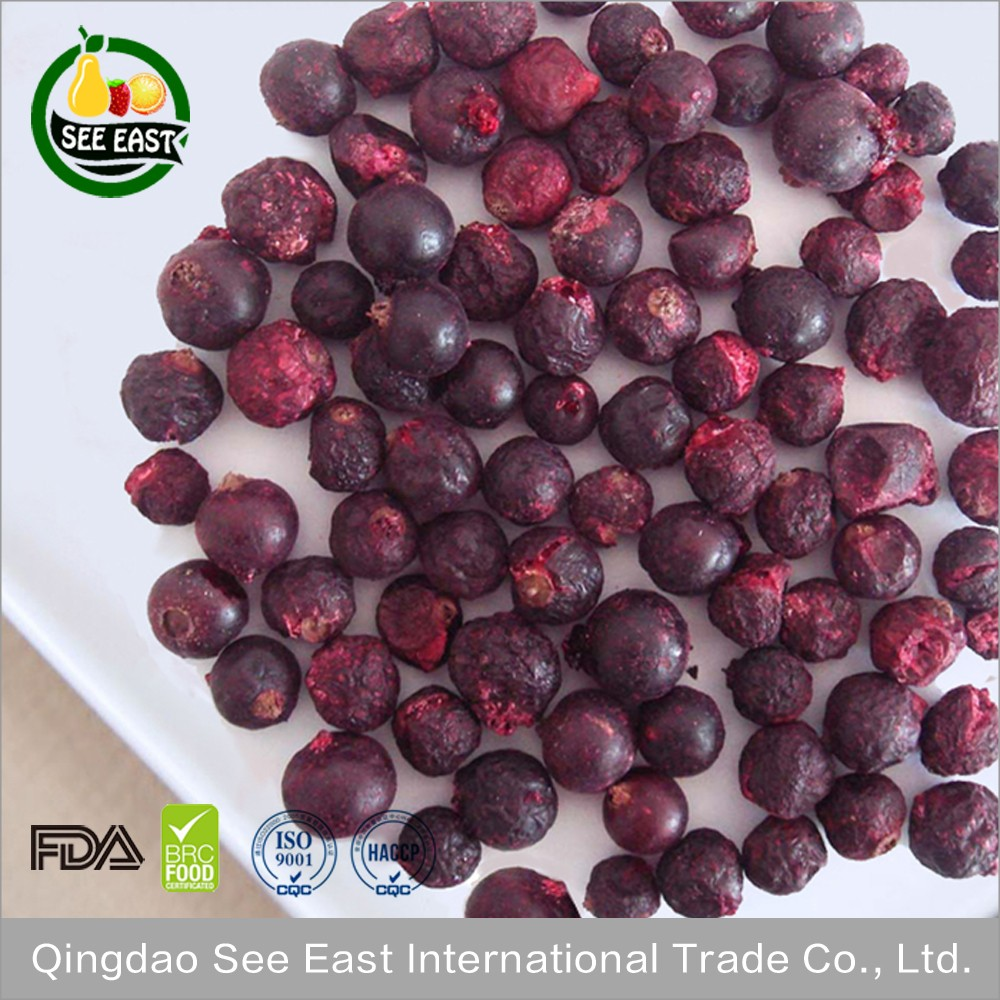 Cereal ingredient Chinese grade A freeze dried black currants