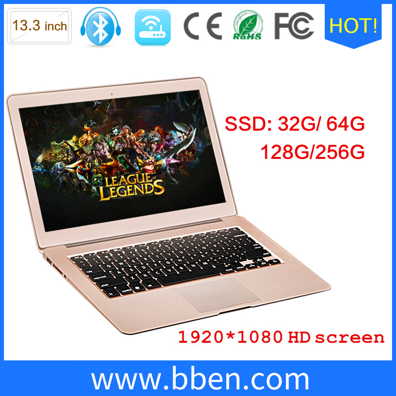 Instore i7 Mini ultra thin 13.3inch laptop win10 Intel laptop gaming i7