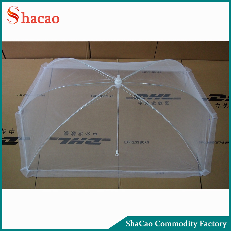 Giant Outdoor Tabletop Food Cover Retangle Shape Pop Up Food Tent