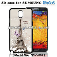 Funny case for samsung galaxy note3,Hot 3D case for samsung galaxy note 3 n9000