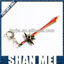 hot sale big size league of legends sword keyrings lol keychains factory stock wholesle