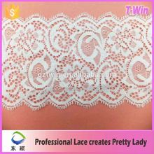 Hot selling white stretch lingerie lace trims /french 9cm lace triming/factory offer lace trimming