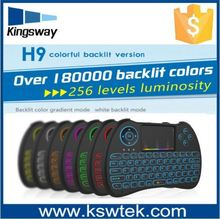 Factory price medical Colorful backlight H9 2.4G keyboard