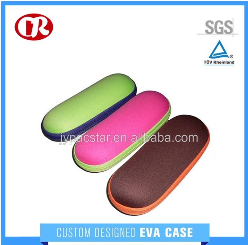 Customized colorful EVA zipper cases for storage kid sunglass case