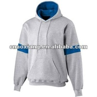 Simple style customized two tone hoodies