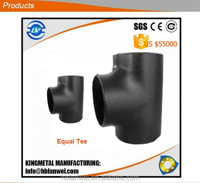 Equal Tee Sch 40 Carbon Steel Pipe Fitting Manufacturer