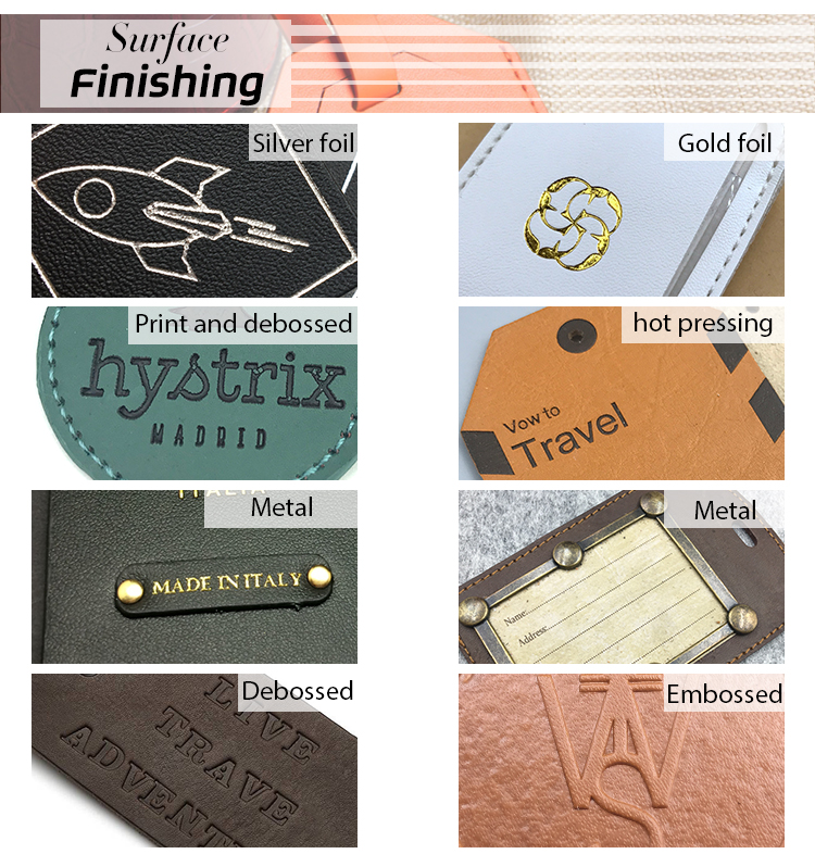 custom fashion design for leather hang tag with your logo