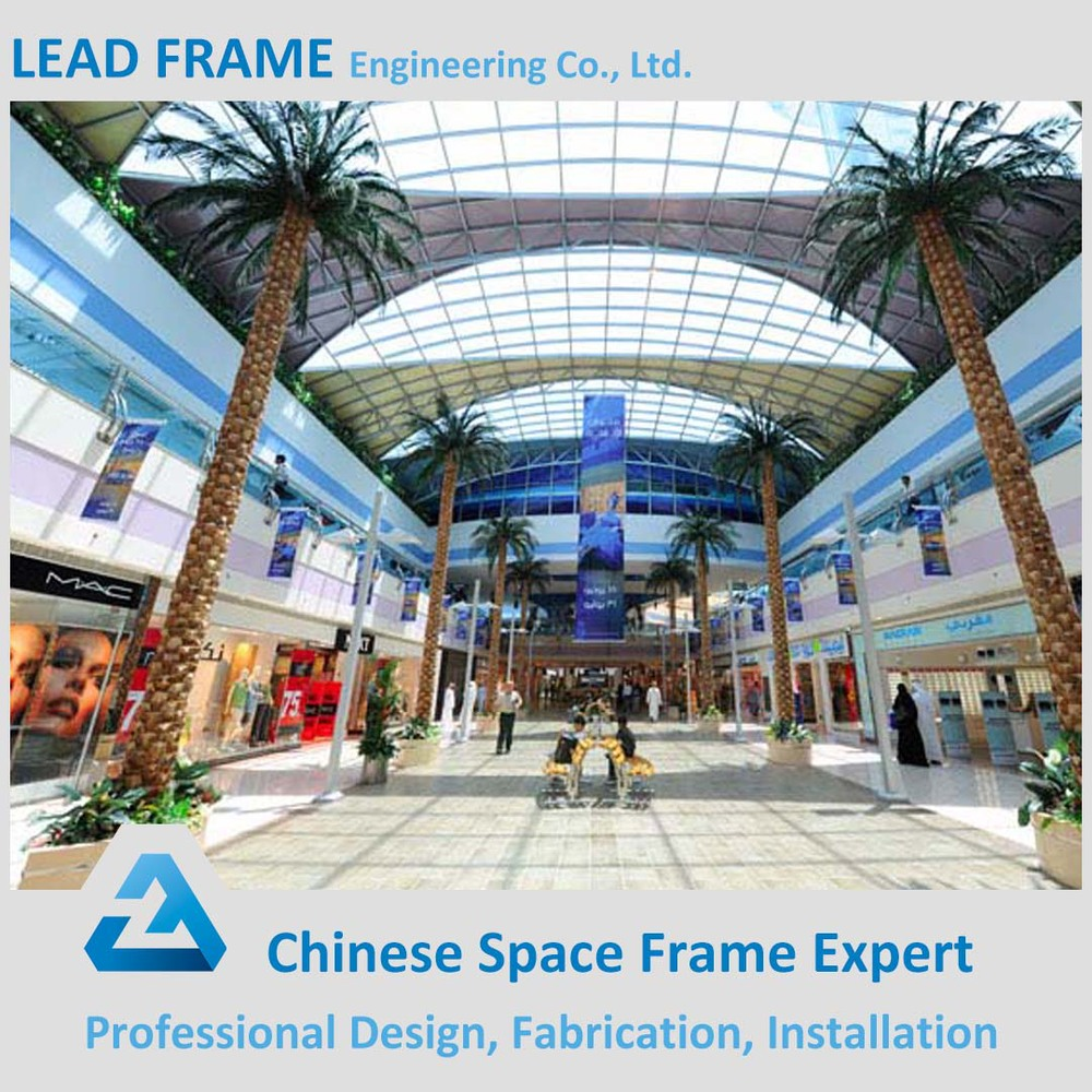Steel Structure Prefabricated Shopping Mall with Glass Skylight
