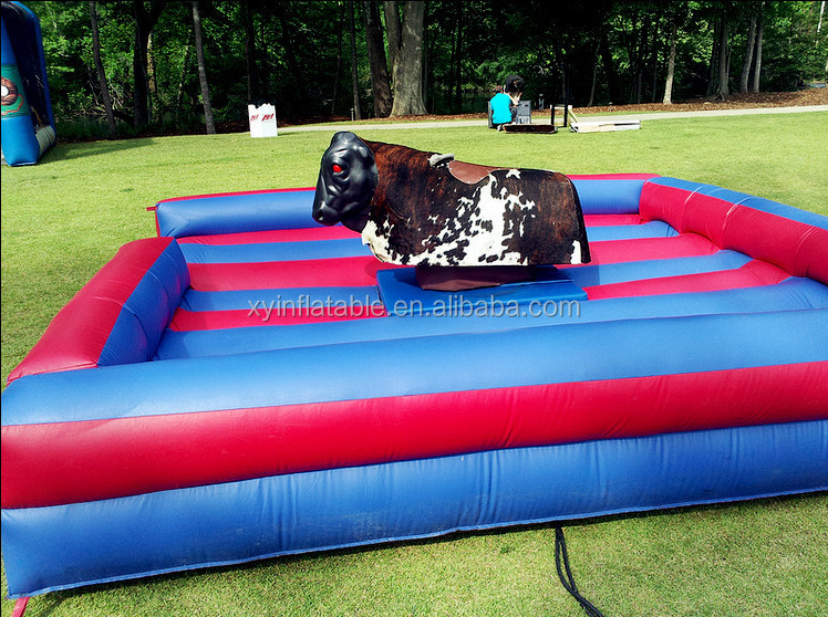 Xingyuan toys outlet price inflatable bull riding machine for sale