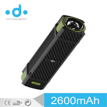 outdoor sport new products mini portable power htc torch light flashlight power bank for phone laptops
