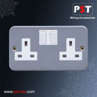 13A 2 Gang Switched Socket Outlet ,Single Pole