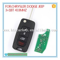 Auto 3+1 button flip replace remote control for chrysler dodge jeep cars