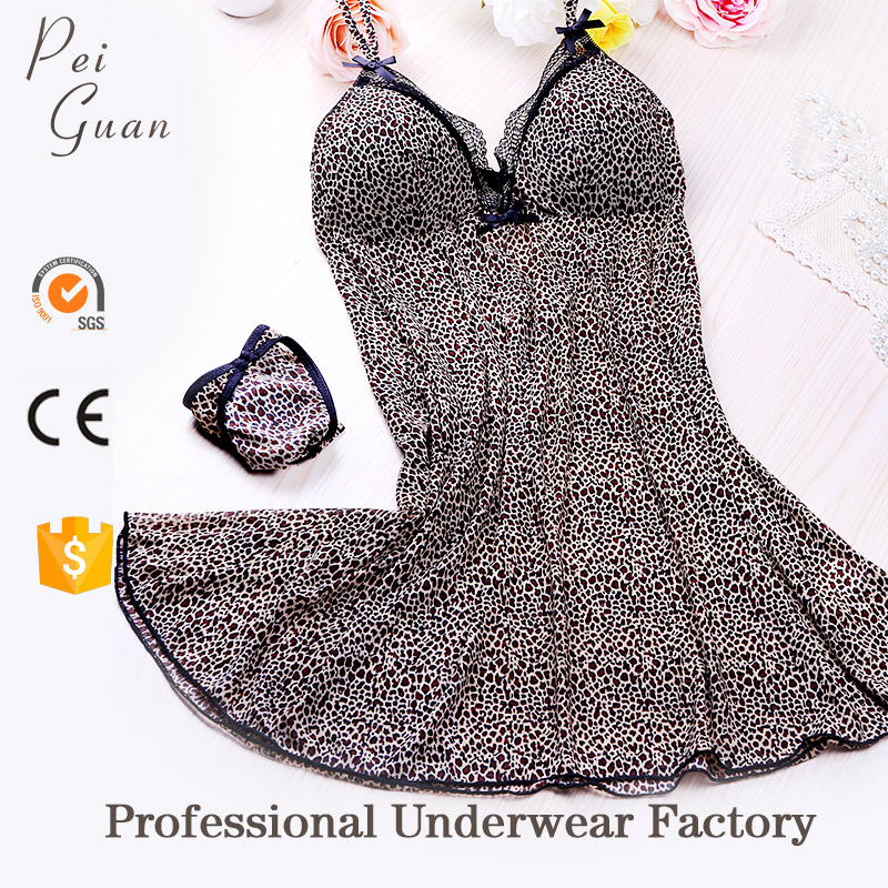 Breathable fashion stylish women young girls sexy nightwear