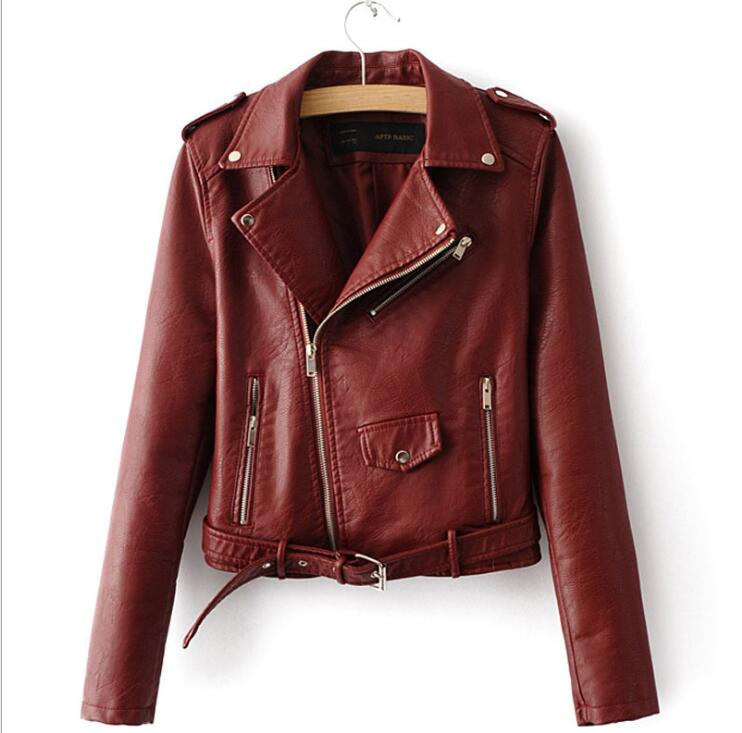 sh10274a 2017 new products women leather motorcycle jacket 5 colors pu waterproof jacket