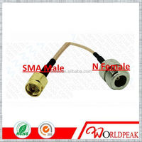 RF RG316 low loss cable assembly cable with SMA Male to N Female with jumper