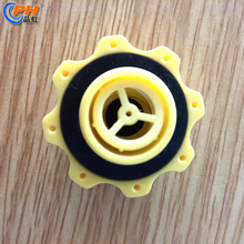 Yellow pressure relief air valve with plastic material