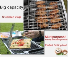 Stainless steel barbecue bbq grill wire mesh net Fish grill basket