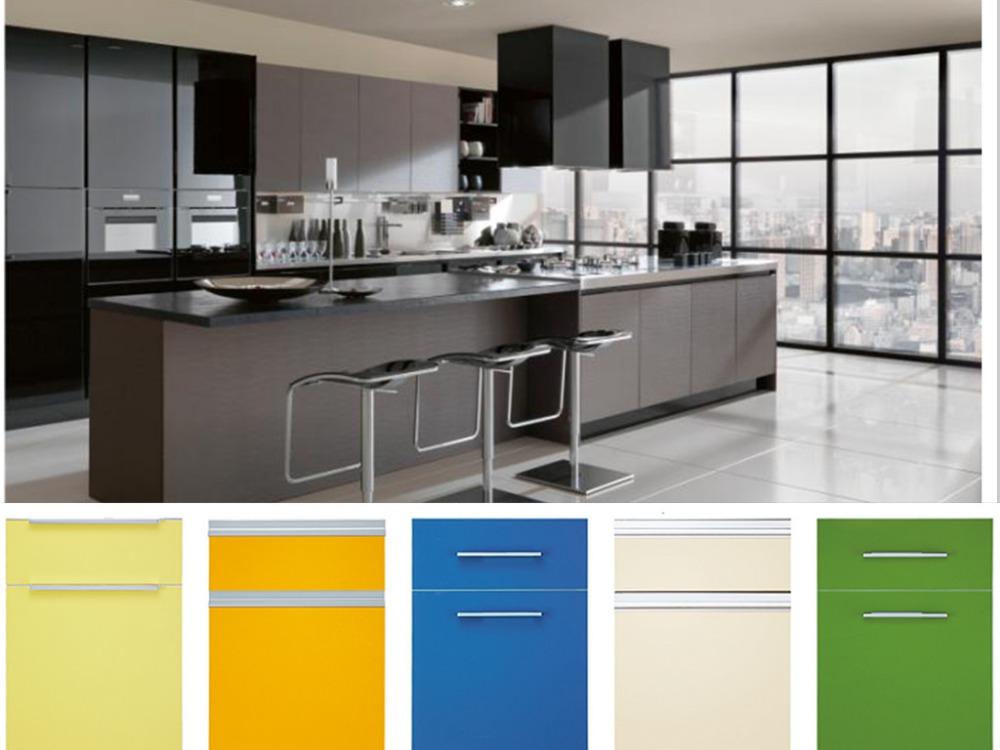 Melamine faced mdf acrylic kitchen cabinet door buy for Acrylic kitchen cabinets india
