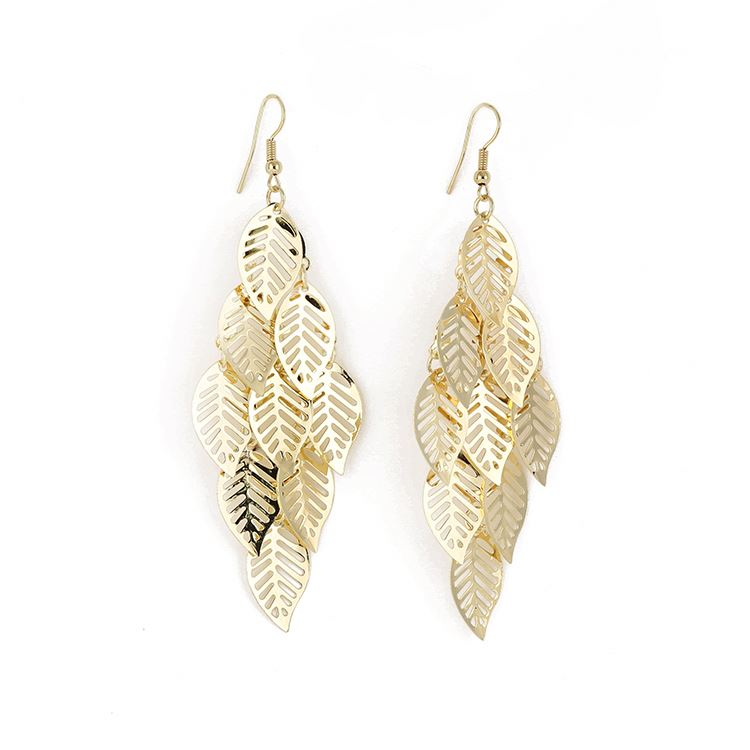 Factory Supply different types large feather earrings with competitive price