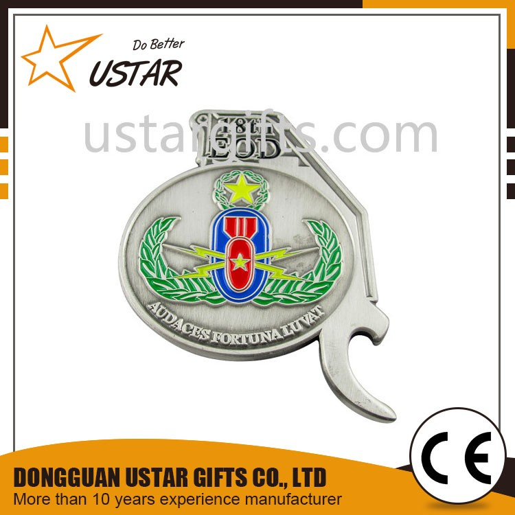 Factory Cheap Custom Sports Challenge Coins Bottle Opener No Minimum