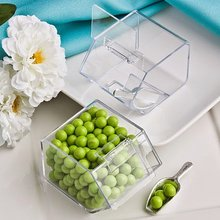 China manufacturer wholesale acrylic mini candy bin with scoop