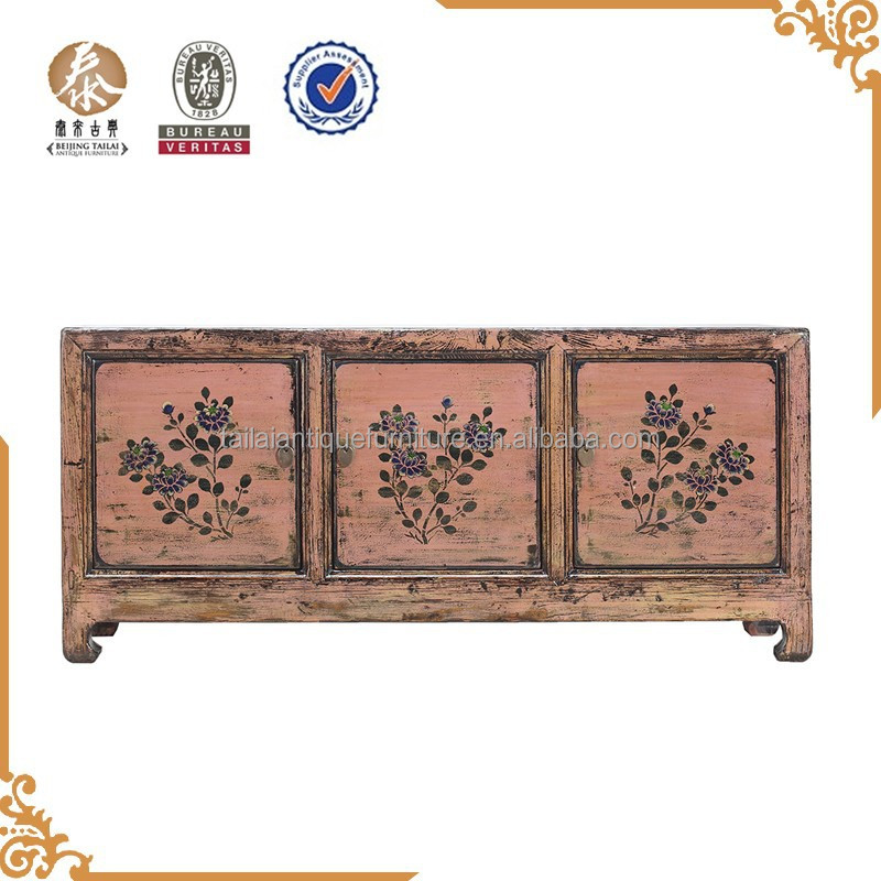 chinese classical antique solid wooden tv cabinet