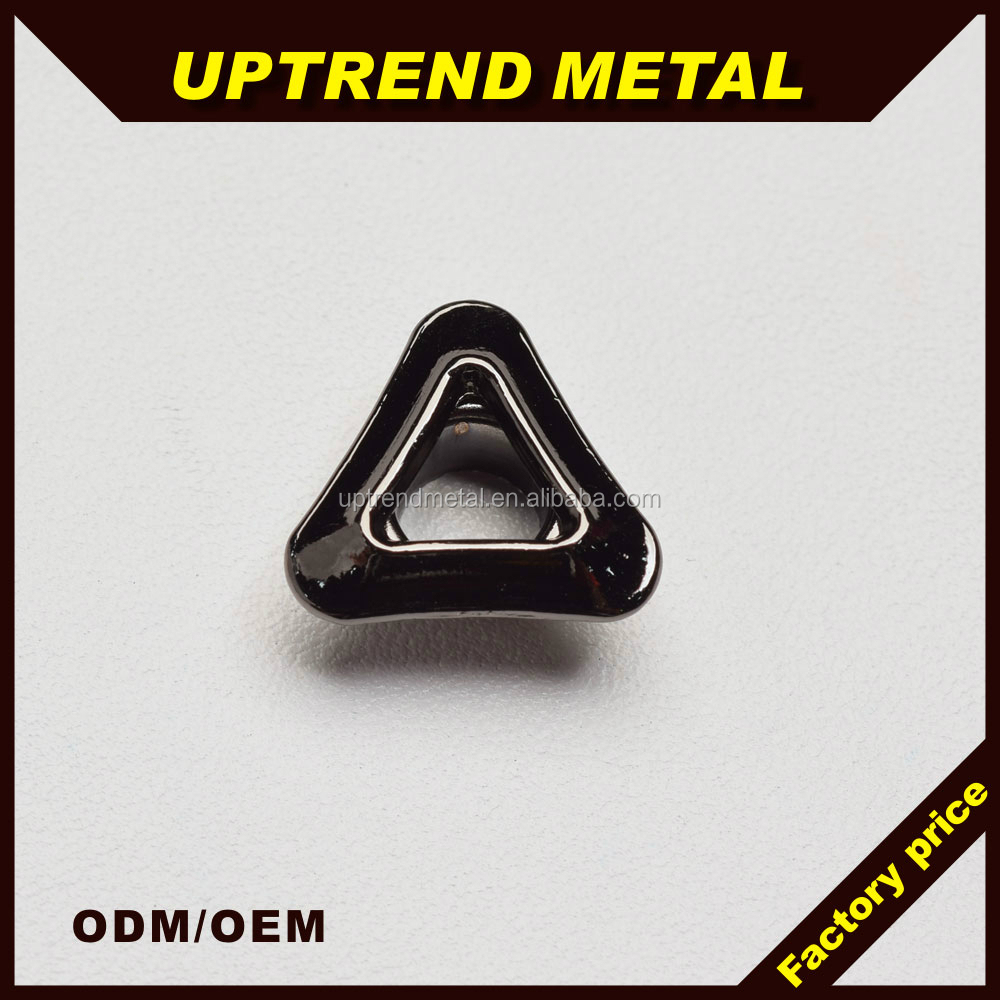 Black copper metal triangle eyelets and grommet,decorative grommets