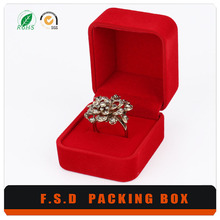 Custom Handmade Elegant Antique Cheap Red Ring Box