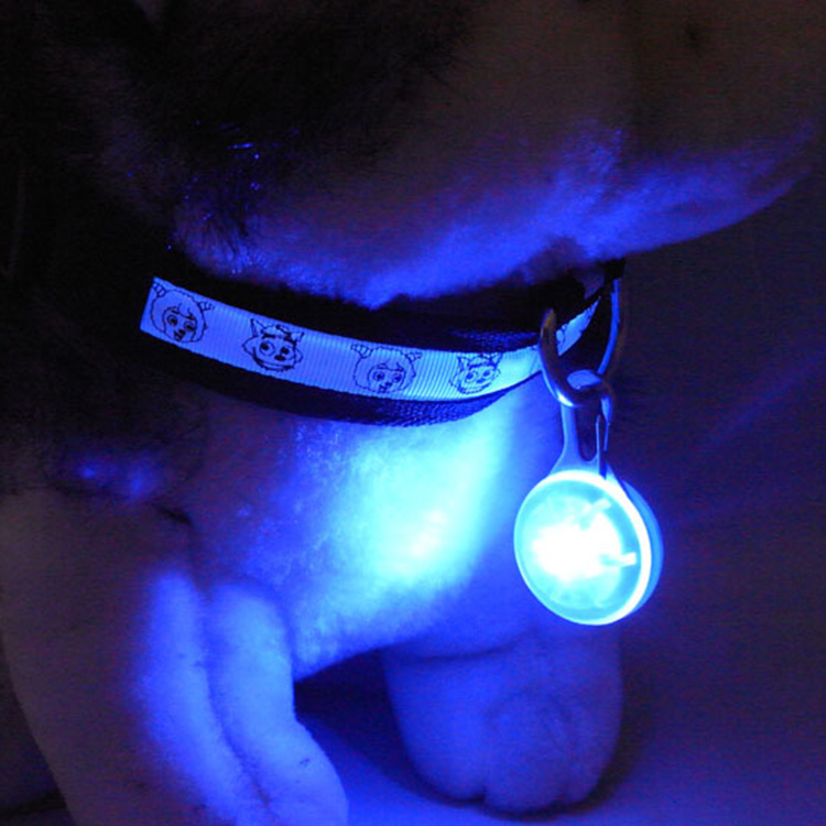 Waterproof clip on dog collar led light safty led lights for dogs and cats, designed for night walking pet pendant