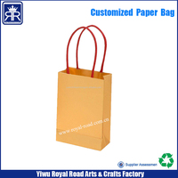 15052816 Low price custom Bread Packaging twisted paper handle kraft bag with you logo